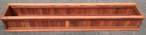 418BYMxUn7L 24 Framed Slatted Redwood Window Box w/ Cleat (Stained)   Clearance Item Critiques