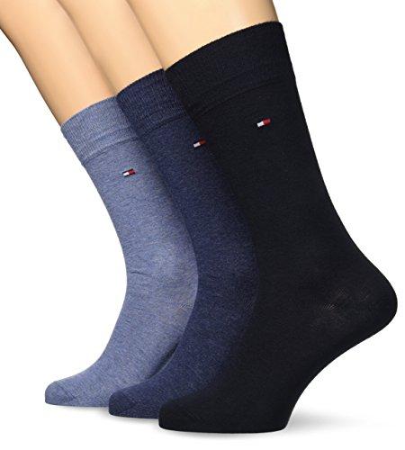 tommy-hilfiger-promotion-3-chaussettes-ville-calcetines-para-hombre-multicolor-marino-43-46-lot-de-3