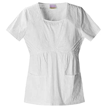 Skechers White V-Neck Top-Small