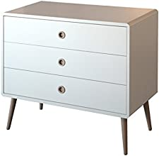 Steens Group 3600150050000F Commode à 3 Tiroirs Grands MDF Verni Blanc 81 x 40 x 73 cm