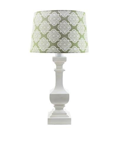 Surya Carolina Outdoor Table Lamp, Green/White