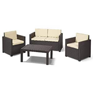allibert 189225 lounge set victoria set rattanoptik. Black Bedroom Furniture Sets. Home Design Ideas