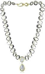 """Nava Zahavi Starlight Quartz, Moonstone, and High-Karat Gold Necklace, 17.5"""""""
