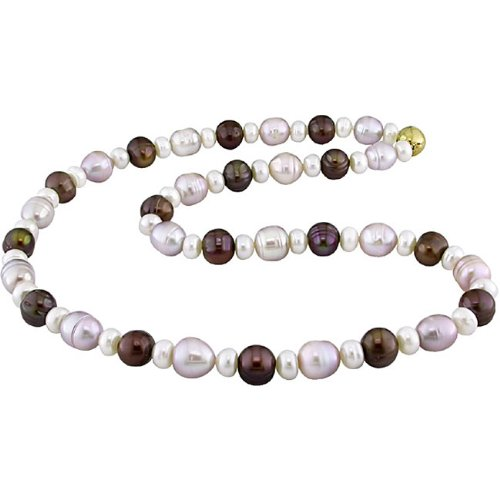 New York Pearls Multi-colored FW Pearl Necklace (8-9 mm)