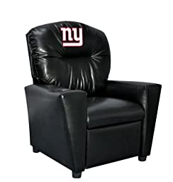 Imperial Officially Licensed NFL Furniture: Youth Faux Leather Recliner, New York Giants