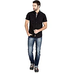 Caricature Casual Full Sleeve Cotton Shirt (Small)