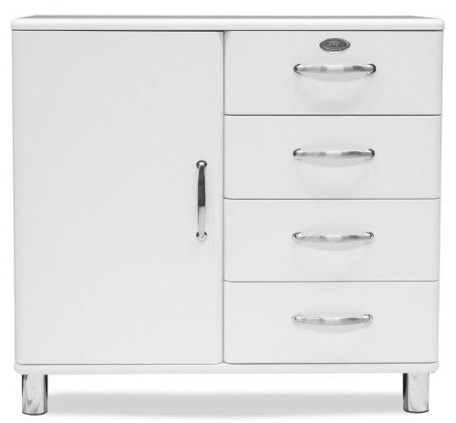 Tenzo-5235-005-Malibu-Designer-Kommode-Sideboard-92-x-98-x-41-cm-MDF-lackiert-wei