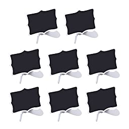 Outus Mini Chalkboards Double Sided Blackboards with Stand for Message Board Signs, Set of 8