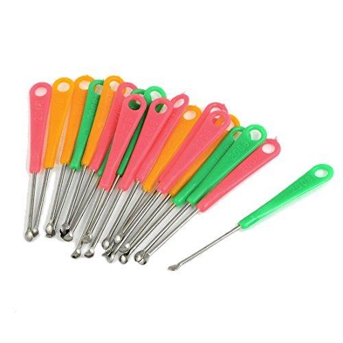 sonline-20-pcs-red-green-yellow-plastic-grip-metal-earpick-ear-curette