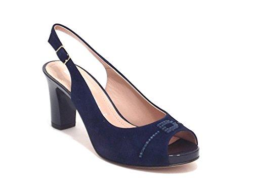 Donna Serena scarpe donna, modello 6071, sandalo in camoscio, colore blu