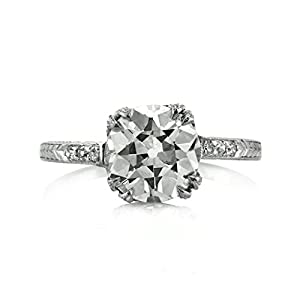 Mark Broumand 2.16ct Old European Cut Diamond Vintage Engagement Ring