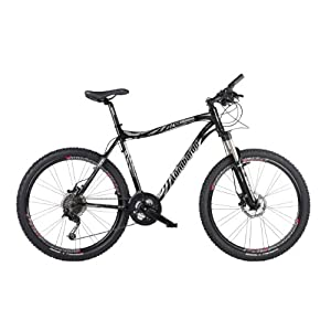 Lombardo Alverstone 600 Mens Lightweight Performance Bike - Black/White, 20.5 inch