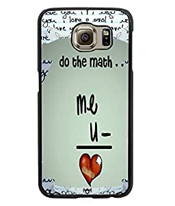 Fuson Love Mathematics Back Case Cover for SAMSUNG GALAXY S6 - D4076