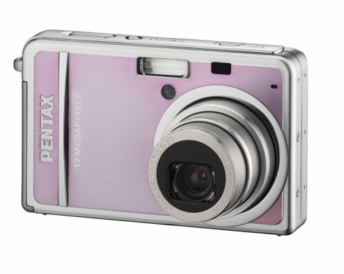 "Pentax Optio S12 Digital Camera - Pink (12.0MP, 3x Optical Zoom) 2.5"" LCD"