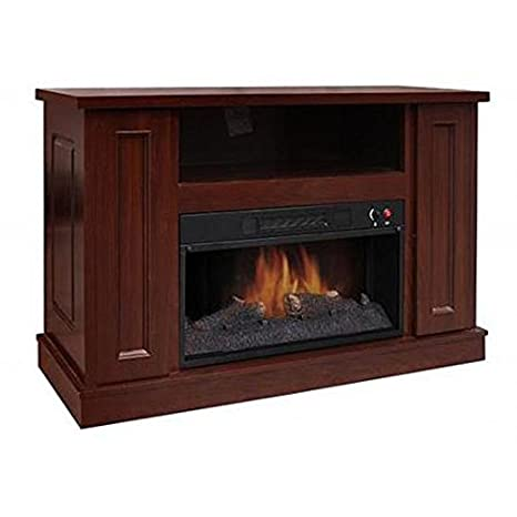 "Decor Flame All-in-One Electric Fireplace with 42"" Mantel, Walnut"