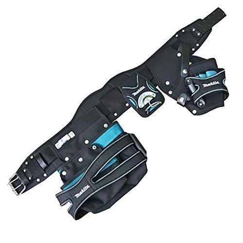 418BzPiSnyL - BEST BUY #1 Makita 66-058B Special Edition Heavy Duty Leather Toolbelt 2 Pouch Holster Tool Belt Set with Hammer Holder