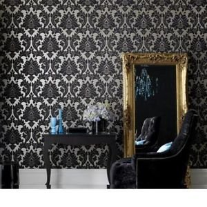 Superfresco Easy Majestic Wallpaper - Black and G from New A-Brend