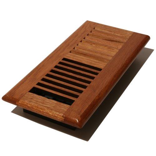 Decor grates wl214 m wood louver floor register medium for Decor grates