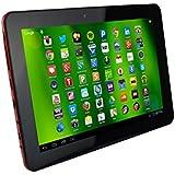 "Hannspree HannsPad SN1AT74R - Tablet de 10.1"" (WiFi, 16 GB, 1 GB RAM, Android), rojo"