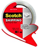 Scotch Lightweight Shipping Packaging Tape with Refillable Dispenser, 1.88 in x 54.6 yd, Clear (3350-RD)