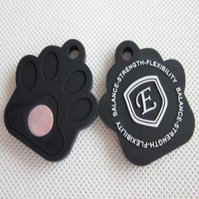 Holistic Negative Ion Silicone Pet Tag (Black)