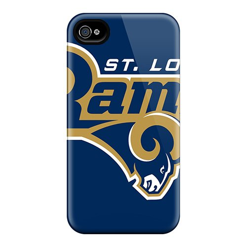 Quality Team Promall Case Cover With St. Louis Rams Nice Appearance Compatible With Iphone 4/4S