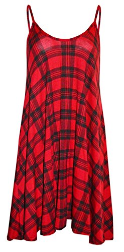 Forever Womens Strap Rose Skull Check Spicy Boom Print Swing Dress