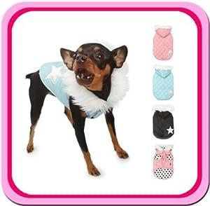 Puppy Angel Reversible Star Diamond Black Dog Coat 3X-Large