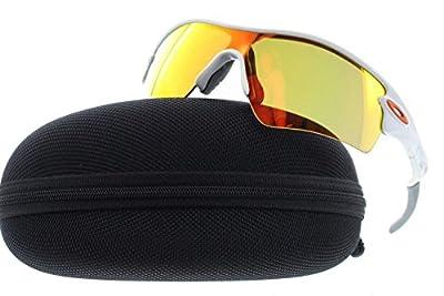 Oakley Men's Radar Sunglasses, Polished White, 133 mm