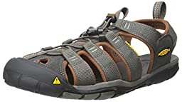 KEEN Men\'s Clear Water CNX - M Sandal,Raven/Tortoise Shell,9 M US