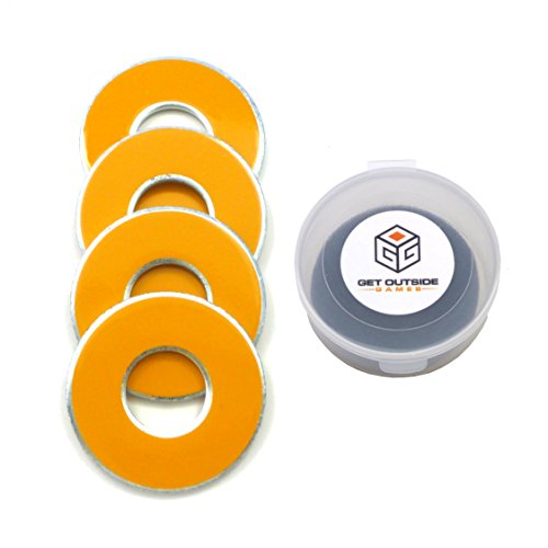 Get Outside Games 4 VVashers - Washer Toss / Washer Game Washers (Yellow-Golden) (Get Outdoors compare prices)