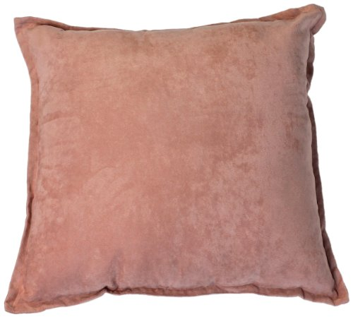 Hudson Street Faux Suede 2-Pack Decorative Pillow, 22 By 22-Inch, Rose front-24547