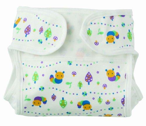 FURERUMO  布おむつカバー新生児用いもむし柄 50-60 ホワイト×ブルー 200004