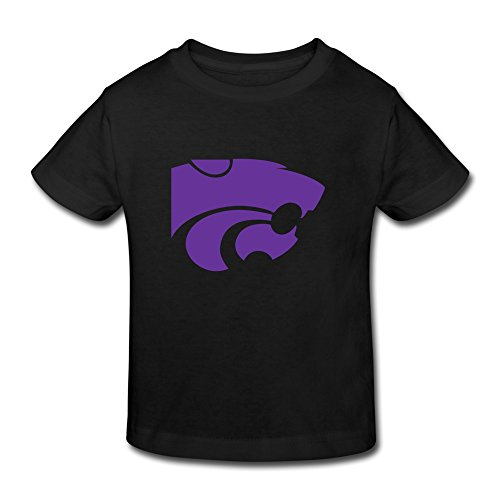 Black Ambom Kansas State Wildcats Little Boys Girls O-Neck T Shirt For Toddlers Size 4 Toddler (Deli Shirts compare prices)