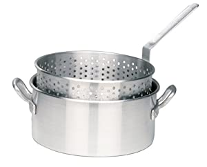 Bayou Classic 1201 10-Qt. Aluminum Fry Pot with Basket - No Lid