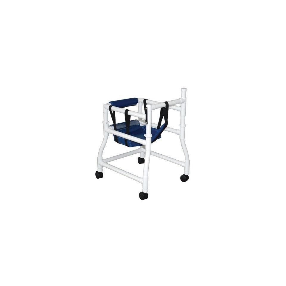 MJM International 415 3 Adjustable Height Stroller or Walker Color Royal Blue