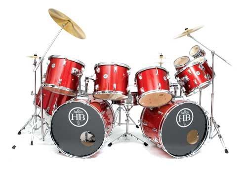 Drum Kit Discount: HB Drums USA 12 Piece Double Bass Drum Set ...