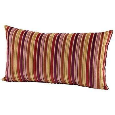 CYAN DESIGN 06529 Vibrant Strip Pillow, Purple