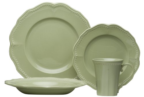 Red Vanilla Classic Sage 16-Piece Dinnerware Set