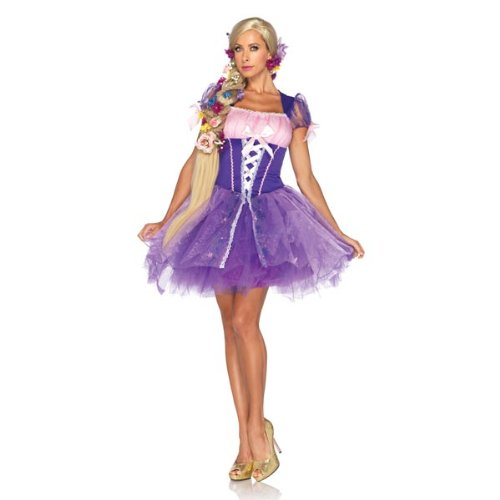 Rapunzel Tangled Disney Women's Costume - Size Small - Fits Size 4-6