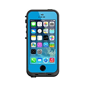 Lifeproof iPhone 5S Fre Case-Cyan/Black - Carrying Case - Retail Packaging - Cyan/Black