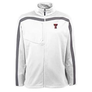 Texas Tech Red Raiders Jacket - NCAA Antigua Mens Viper Performance Jacket White by Antigua
