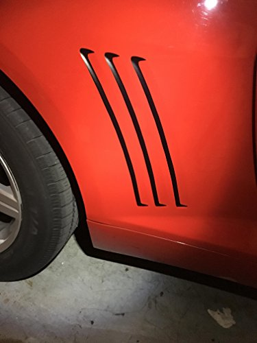 Camaro Gill Decals, Chevy Matte Black Vent Stickers, Please Message Us Your Color Choice (Default: Matte Black) (Camaro Gill Vent compare prices)