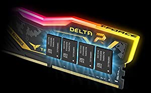 TEAMGROUP T-Force Delta TUF DDR4 16GB (2x8GB) 2666MHz (PC4-21300) CL18 Desktop Memory Module ram (Tamaño: 16 Gb)
