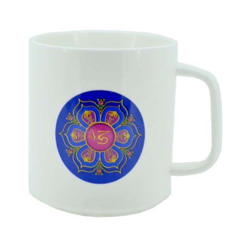 Hinky Imports® Lotus Flower Om Symbol Cool Coffee Mug, Tea Cup