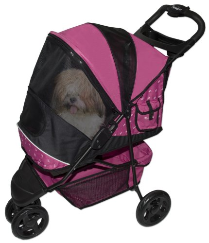 Pet Gear Special Edition Pet Stroller for cats and dogs up to 45-pounds, Raspberry