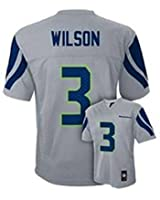 Russell Wilson Seattle Seahawks Grey Youth Jersey