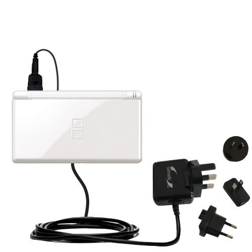 International AC Home Wall Charger suitable for the Nintendo DS Lite / DSLite - 10W Charge supports wall outlets and voltages worldwide - Uses Gomadic Brand TipExchange (Nintendo Power 99 compare prices)