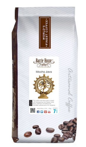 Barrie House Coffee Mocha Java Coffee, Whole Bean 40 oz. (2.5 lb.) Bag