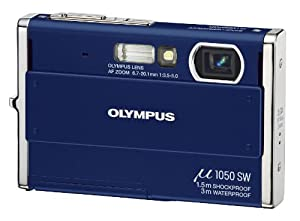 Olympus Mju 1050SW Digital Camera - Pacific Blue (10.1MP, 3x Optical Zoom) 2.7 inch LCD